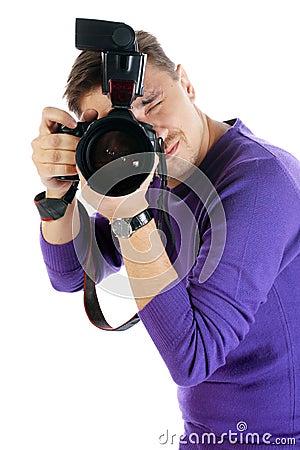 Free Photographer Man Stock Photos - 12186023