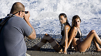 Photographer and models