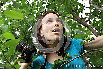 Photographer on nature.