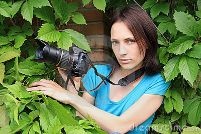 Photographer on nature.