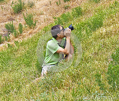 Photographer on nature