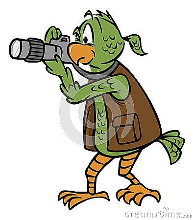 Photographer parrot