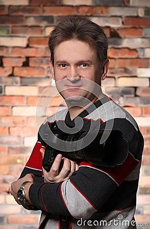 Photographer portrait of a man