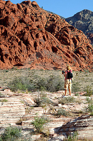 Photographer Red rock canyon