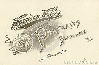 Photographer s Advertisement, Circa 1880