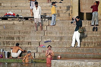 Photographer in Varanasi Editorial Stock Photo