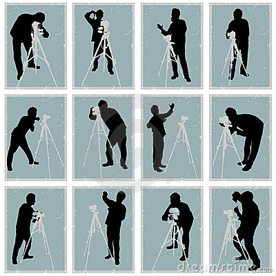 Photographer vector set