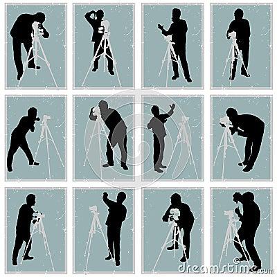 Photographer vector set