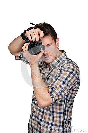 Free Photographer With A Camera Stock Image - 28936961