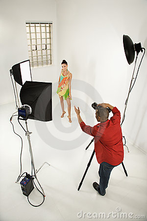 Free Photographer With A Model. Stock Photos - 2044453