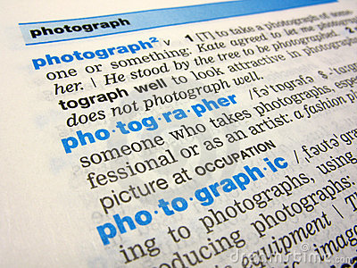 The photographer word