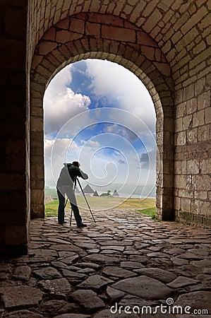 Photographer works