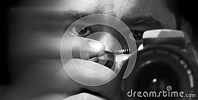 The photographer he photographer