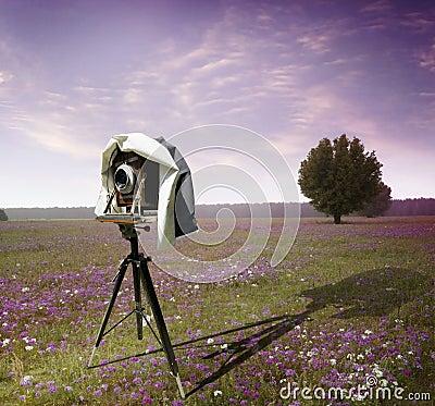 Photographers camera