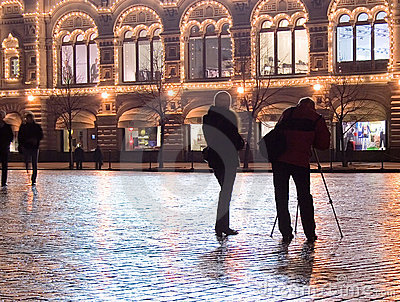 Photographers Red Square Editorial Image