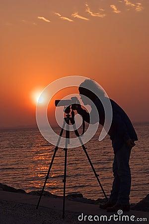 Free Photographers Sunrise Royalty Free Stock Photos - 330098