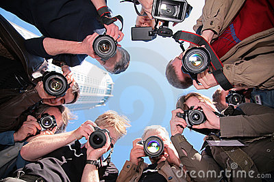 Photographes sur l objet