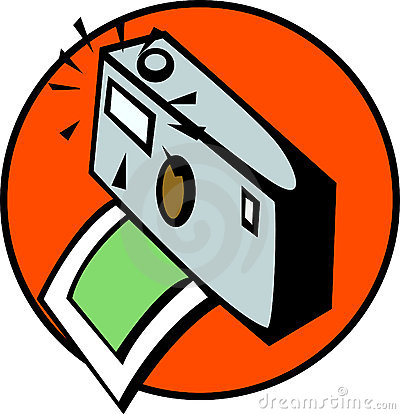 photographic camera taking a photography. Vector