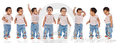 Photographic sequence of a hyperactive baby