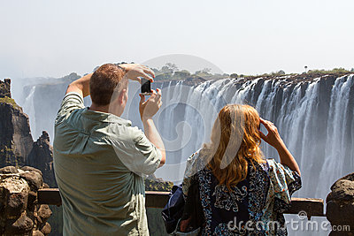Photographing the Falls 1 Editorial Image