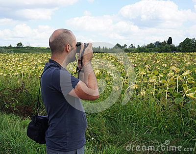 Photographing man
