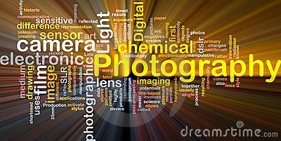 Photography camera background concept glowing