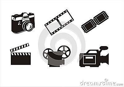Photography and cinema symbols