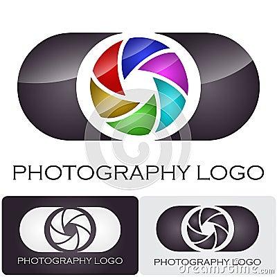 Photography company logo brush style