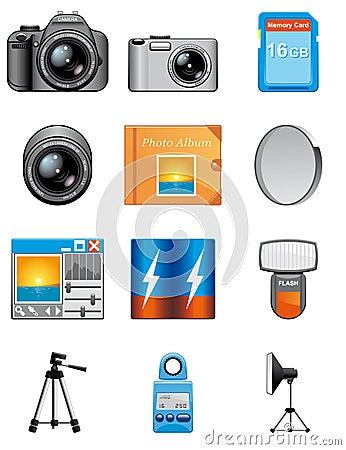 Photography equipment icons