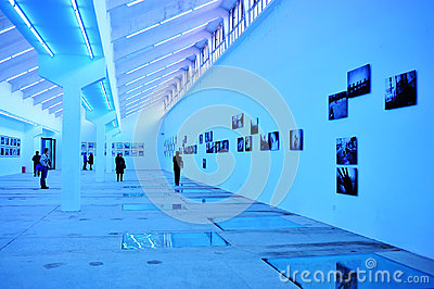 Photography exhibition hall Editorial Image