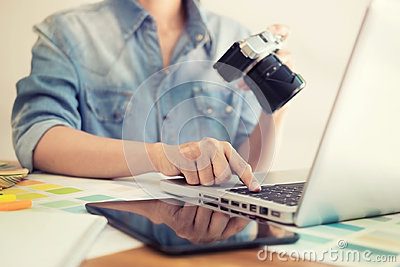 Photography Ideas Creative Occupation Design Studio Concept, Fem Stock Photo
