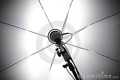 Photography Set Up With Umbrella Stock Photography - Image: 22628512