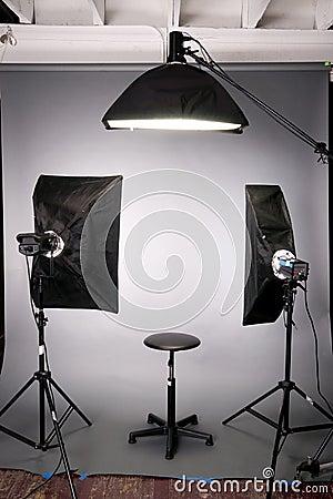 Photography Studio Lighting Background Setup Grey