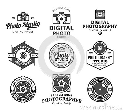 Photography Studio Logo, Labels, Icons and Design Elements Vector Illustration