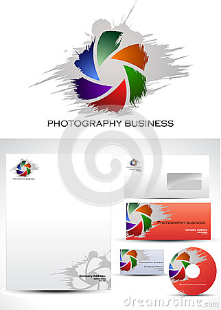 Free Photography Template Logo Design Royalty Free Stock Image - 26683356