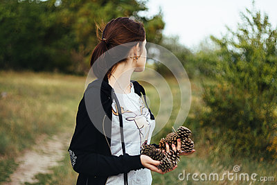 Photography Of Woman In Black Jacket Standing On Green Grass During Daytime Free Public Domain Cc0 Image