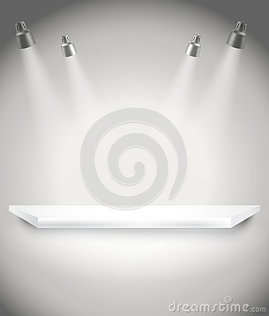 Free Photorealistic Bright Stage With Spot Lights Royalty Free Stock Photos - 39165708
