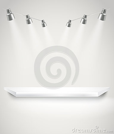 Free Photorealistic Bright Stage With Spot Lights Royalty Free Stock Images - 39817879