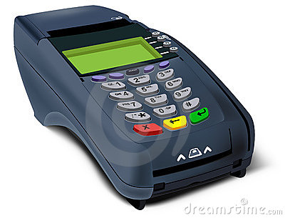 Photorealistic illustration of POS-terminal