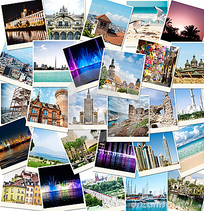 Free Photos From Travels To Different Countries Royalty Free Stock Photo - 35103565