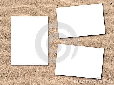 Photos with sandy beach background