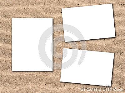 Photos with sandy beach background