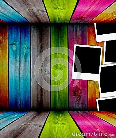 Photos in Wooden Room