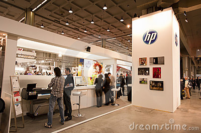 Photoshow: HP stand Editorial Photo