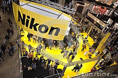 Photoshow: Nikon stand Editorial Photo