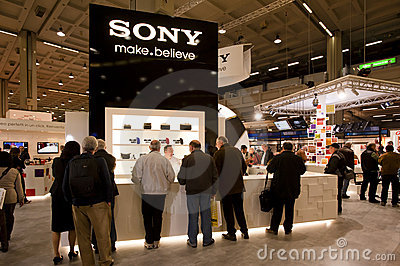 Photoshow: Sony stand Editorial Stock Photo