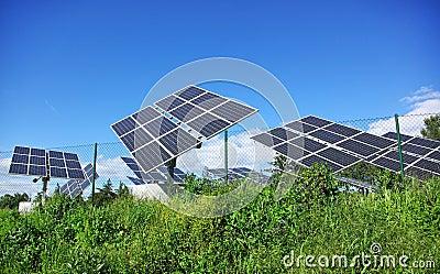 Photovoltaic panels .
