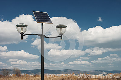 Photovoltaic powered street lights