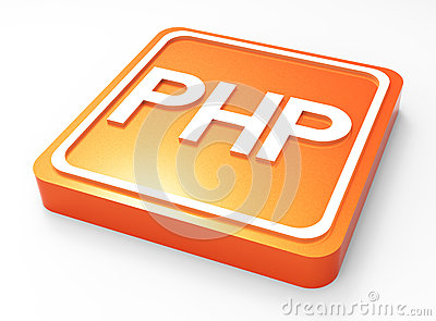 PHP Programming button 3D
