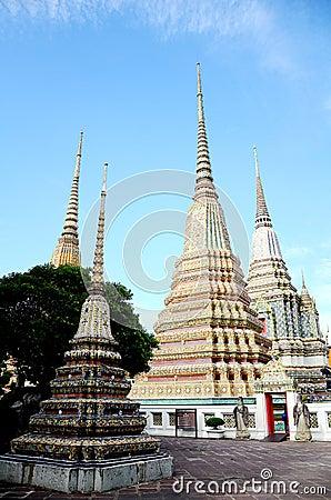 Phra Maha Chedi at Wat Pho, Bangkok.